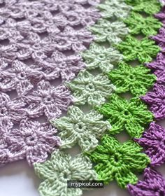 Crochet Flower stitch: Diagram + step by step instructions | Free crochet patterns
