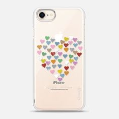 Casetify iPhone 8 Snap Case - Distressed Hearts Heart B Transparent by Project M
