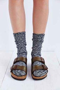 Birkenstock Arizona Soft Footbed Metallic Sandal - Urban Outfitters