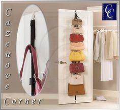 Handbag door organiser - Handbag hanger hooks. Hanging Handbag storer - 8 Hook | eBay