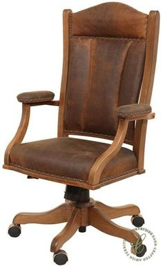 Bankers Wood Swivel Chair White Finish Espresso Padded Seat
