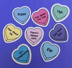 Sassy Heart Sticker Set (pack of 8), Tumblr Stickers, Phone Case Stickers, Laptop Stickers
