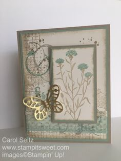 Stamp It Sweet: Timeless Textures and Wild about Flowers Swap Card