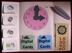 Telling time lapbook idea Laminate all of the work spaces