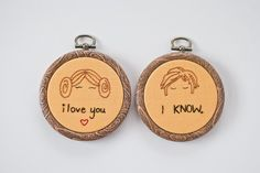 Hand Embroidered Star Wars Han Solo and Princess Leia duo Hoop Art