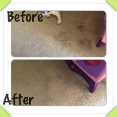 Amazing!! Use a magic eraser to clean very old carpet stains! Only down fall is that It doesn't seem to work as well on red juice stains otherwise super quick and easy!!