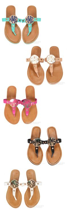 **NEW** Monogrammed Sandals from Marleylilly.com