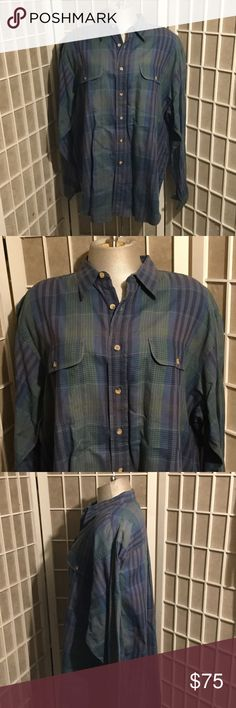 Vintage Men's Christian Dior Plaid Cotton XL This is a slightly softened plaid Christian Dior cotton XL men's shirt. Its in excellent condition from the 1990s but if you look at their new catalog from fall they have brought back plaid shirts in a big way as has Yves Saint Laurent and all the big labels for men. This would look great on a woman as well but it is an XL, picture it oversized with a tee and New flairs Christian Dior Shirts Casual Button Down Shirts