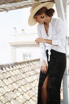 A minimalist chic outfit by Seams For A Desire