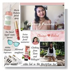 """""""February Favourites"""" by fashionfreakforlife ❤ liked on Polyvore featuring art"""