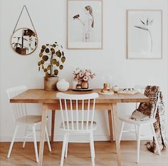 I think pushing the table up to the way is such a good idea makes the room bigger and if you need to you can pull it off the wall and use it