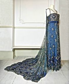 1910 Beaded and Sequinned Gown with Train by PenniesLondon on Etsy