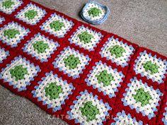 keitodamaworld: Granny Square Blanket ❀ グラニースクエアのブランケット❀