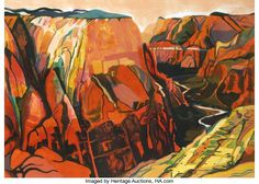 Prints:Contemporary, Susan Shatter (American, 1943-2011). Grand Canyon, 1981.Lithograph in colors on Arches paper. 31-1/2 x 44 inches (sheet...