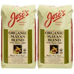 Jose's 100% Organic Mayan Whole Bean Coffee 2.5 lb. Bag 2-pack