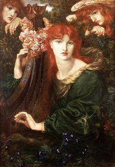 "Botticelli Reimagined - About the Exhibition - Victoria and Albert Museum  D.G. Rosetti ""La Ghirlandata"" --1873"