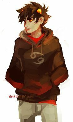 Karkat Vantas in a hoodie/Homestuck Homestuck Trolls, Davekat, And So It Begins, Estilo Anime, Viria, Emo, Character Design, At Least, Fandoms