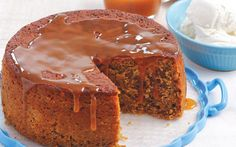 Sultana Cake with Toffee Sauce