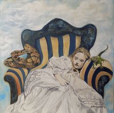 A surreal rendition of a little girl dreaming - is it real or not? Girls Dream, Surrealism, Netherlands, Little Girls, Painting, Art, The Nederlands, Art Background, The Netherlands