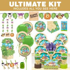 Check out Wild Safari Party Ultimate Tableware Kit Serves 8 - Wholesale Party Supplies from Wholesale Party Supplies