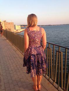 By Hand London Flora Dress in Nani Iro double gauze with pockets
