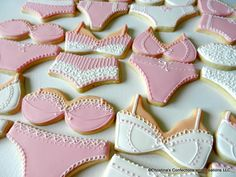 Hand Decorated Bra/Panty set Sugar Cookies for Bachelorette Parties, Bridal Showers, or Lingerie Parties (#2342) by 3CSC on Etsy https://www.etsy.com/listing/97548341/hand-decorated-brapanty-set-sugar