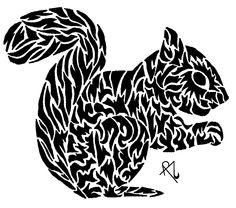 Tribal Squirrel By Rozakdegaju Shadowness