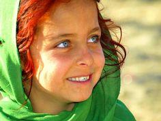 Red head afghan girl