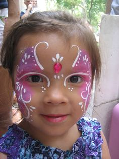 ideas about Kids Face Paints Face Painting Images, Face Painting Tips, Face Painting Designs, Body Painting, Face Paintings, Summer Painting, Painting For Kids, Toddler Butterfly Costume, Toddler Makeup