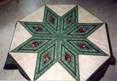Winterster, kerstkleed passend op een achthoekige tafel
