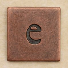 Copper Square Letter e by Leo Reynolds, via Flickr als naambordje