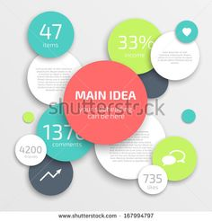 Circle modern business Infographics design template. Can be used for workflow layout, banner, diagram, web design.