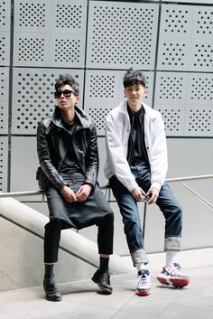 Street style: Kim Do Jin and Ahn Seung Jun shot by Alex Finch at Seoul Fashion Week Fall 2015