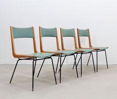 Set of 4 Carlo de Carli dinner chairs, 1950s