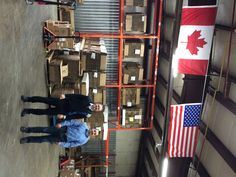 Showing our North American patriotism in our Acton warehouse