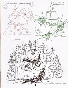 Pintura em tecido Natal - Edna Penha - Álbuns da web do Picasa