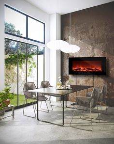 Fireplace in the kitchen!!