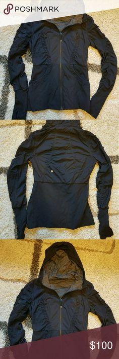 Lululemon Reversible  Dance Studio Jacket Gorgeous Black reverse to dark grey and black Lululemon Dance Studio Jacket, size 8 lululemon athletica Jackets & Coats