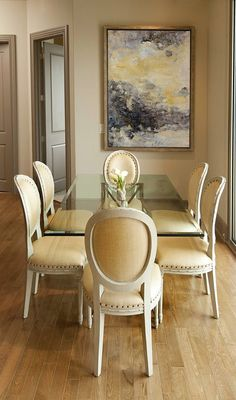 simple and elegant dining room by slovack bass design. Elegant Dining Room, Dining Room Design, Dining Room Chairs, Dining Room Furniture, Dining Rooms, Glass Dining Table, Modern Dining Table, Small Dining, Dining Tables