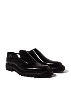Yang Li Mens Antick Calf Cut Away Single Strap Monk Shoes  £875