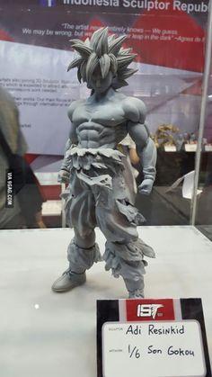 Cool Goku sculpture