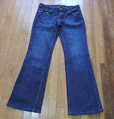 Banana Republic Women Dark Blue Jeans Size 8S #BananaRepublic #Relaxed