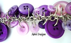 Shaggy Buttons kit - do it yourself jewllery making pendant chainmail