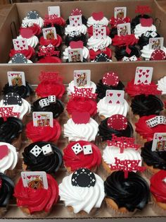 Casino cupcakes Casino party decoration ideas. Check out World Class CE for more ideas we've pinned!