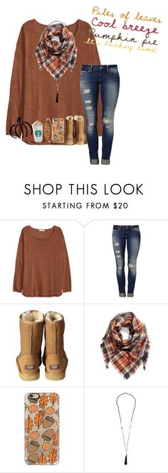 """A.U.T.U.MU.N"" by mckenna1 ❤ liked on Polyvore featuring H&M, Mavi, UGG Australia, BP. and Casetify"