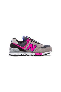 New Balance 574 '90S Outdoor Collection Sneaker in Grey & Pink | REVOLVE