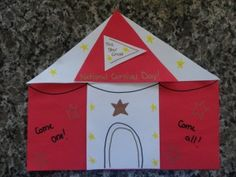 Circus Crafts | National Carnival Day Craft & Printable Circus Craft: Tent  | Kid Blogger Network Activities ...