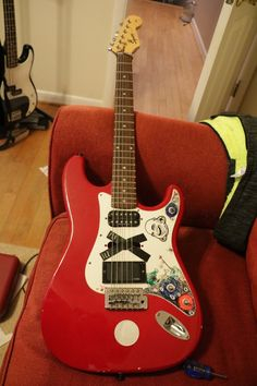 squier before surgery. Fender Squier, Music Instruments, Guitar, Musical Instruments, Guitars