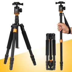 52.00$  Buy now - http://aliwjv.worldwells.pw/go.php?t=32581216820 - Q-999s Portable Pro  Aluminum alloy Tripod Monopod&Ball Head Compact Travel for DSLR Camera Hot 52.00$