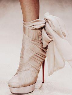 Valentino. Bridal bootie anyone ?